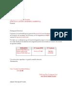 Formato Para Presentar Horarios a Direccion