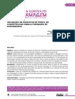 VALIDAÇÃO DA PROPOSTA DE PERFIL DE COMPETÊNCIAS PARA A FORMAÇÃO DE ENFERMEIROS