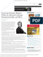 Chicago Magazine - Invenergy Founder Michael Polsky on Alternative Energy, E