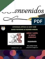 1. AGRA 2018 - Presentación Del Curso