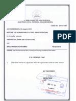 Court Order - Brian Shivambu