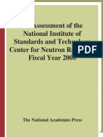 Panel on Neutron Research, National Research Council - An Assessment of the National Institute of Standards and Technology Center for Neutron Research_ Fiscal Year 2008 (2008)