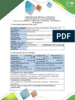 Guia de Actividades y Rubrica de Evaluacion - Actividad 1 - Evaluación Inicial - Evaluar Presaberes