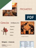 Exposición  descriptiva del mito de prometeo y Grecia
