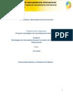 Unidad 2. Estrategias Para La Mezcla Mercadologica Internacional_Actividades