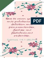 Que te sean gratas mis palabras y te deleiten mis pensamientos, Señor,mi fortaleza. (1).pdf