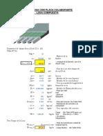 cálculo de placa metal deck