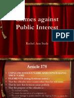 Crimes Against Public Interest