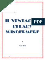 Oscar Wilde - Il Ventaglio Di Lady Windermere