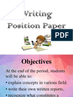 EFA Writing Position Paper
