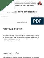 """Sección 25 """"COSTOS POR PRÉSTAMOS"""" NIIF PARA PYMES"""