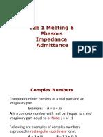 EEE 1 Meeting 6 - Phasors, Impedance