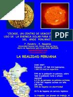 2 Pedro Zanabria - CECADE Un Centro de Demostracion Del Uso Energia Solar