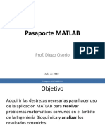 Pasaporte a Matlab