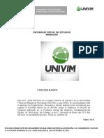 005 Reglamento Escolar de La UNIVIM