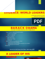 Evidence World Leaders