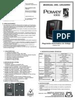 Manual de de power 1000