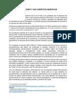 ATENCIÓN AL CADÁVER Y SUS ASPECTOS BIOÉTICOS