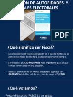 FORMACIÓN de Autoridades y FISCALES Electorales 2019 WEB PATRIA