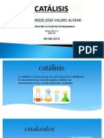 Catalisis. Edilfredo j. Valdes Alvear