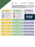 Torneo Provincial 2019 - Categoria 1999 - Fixture
