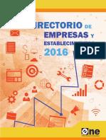 Directorio de Establecimientos Económicos 2016
