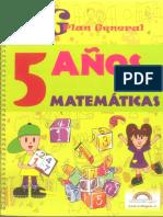 09 Plan General Matematica 5 Años