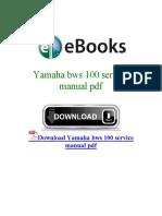 Yamaha Bws 100 Service Manual PDF
