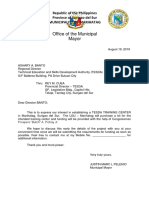 Letter to TESDA