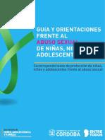 Guía y orientaciones frente al abuso infantil de niños, niñas y adolescentes