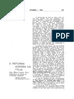 A Reforma Agrária na Itália