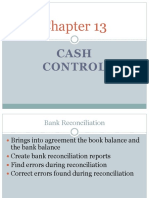 Chapter 13-cash control