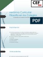 Reforma Curricular CEF RM