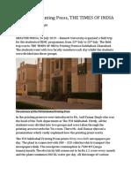 Report on Sahibabad Printing Press TOI - By LA19MCE150(1)