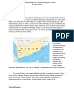 Aiding the Internally Displaced People and Refugees of Yemen  (Issue Brief