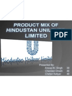 Product Mix HUL
