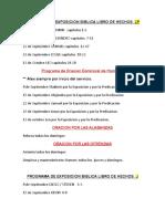 Programa de Exposicion Biblica Libro de Hechos