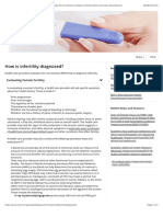 How is infertility diagnosed? | NICHD - Eunice Kennedy Shriver National Institute of Child Health and Human Development