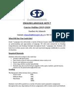 english language arts 7 course outline