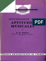 Teplov BM- Psychologie Des Aptitudes Musicales-image