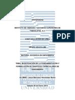 Investigación de La Fundamentación y Formulación de Objetivos Curriculares de Enfermería
