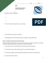 Projectile Motion Webquest