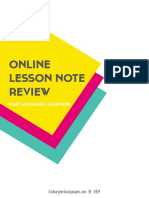 Online lesson review