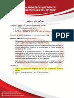 EVALUACIÓN DE MODULO 1 CONTRATACIONES DEL ESTADO