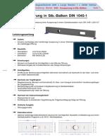 Aussparung in Stb. Balken DIN 1045-1