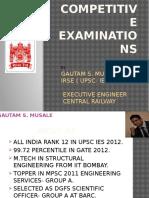 Gautam- Competitive exams.pptx
