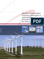Benefits of Oxazolidine Moisture Scavengers in PU Protective Top Coats for Wind Turbines