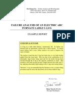Reliability Failure Analysis of a Electric Arc Furnace Ladle U Lug