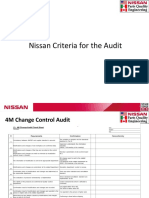 4M Nissan Criteria for the Audit