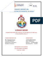 A Project Report on Forecasting of Rainfall in India